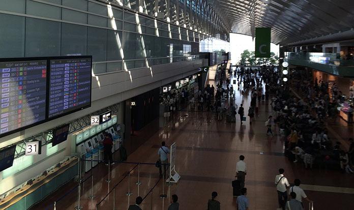 В аэропорту Ханэда