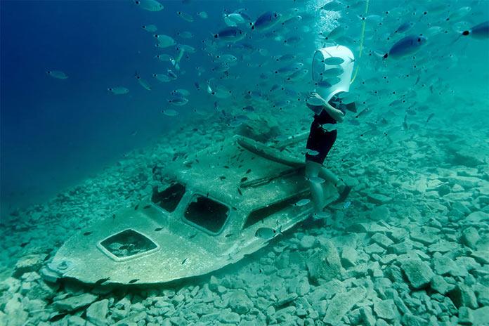 Подводное фото экскурсии в подводном парке в Пуле в Хорватии