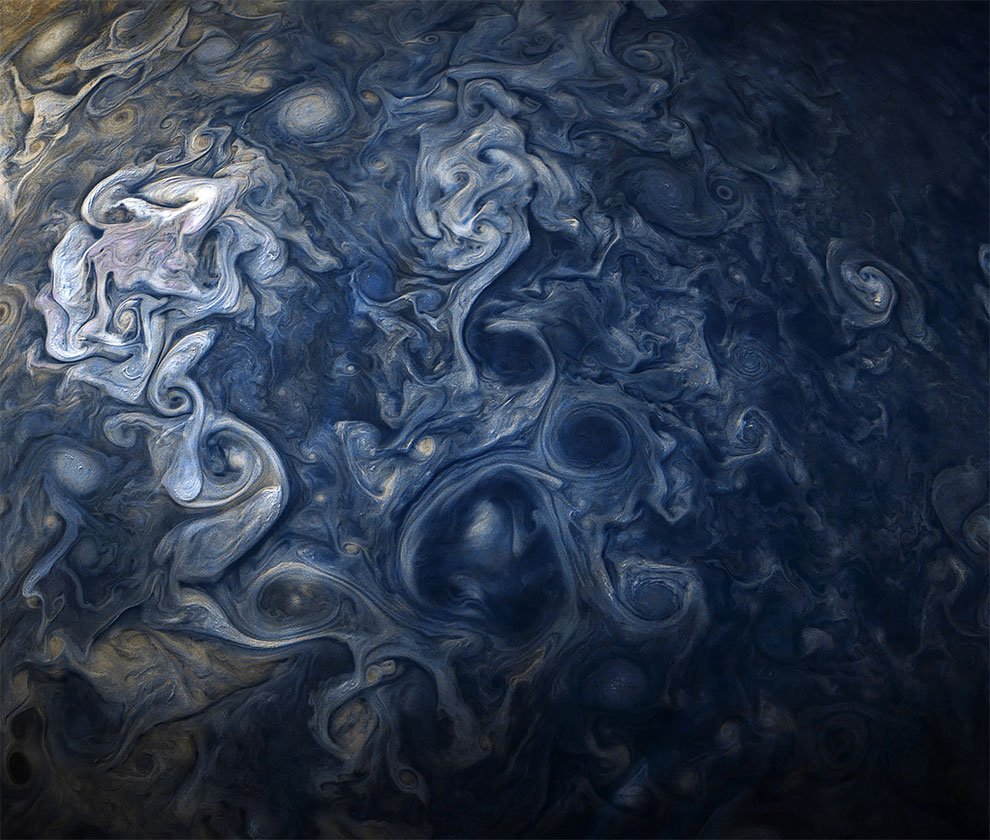 Jupiter Close Up Looks Like A Van Gogh Painting