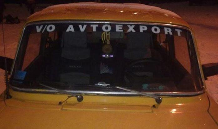 Тюнинг автомобилей в СССР. Наклейка Автоэкспорт на лобовом стекле