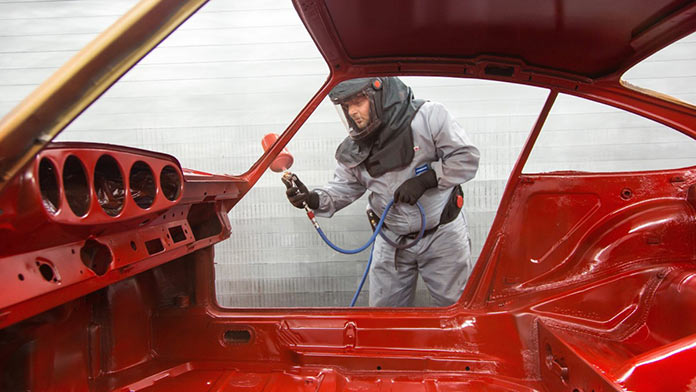 Восстановление Posche 901 1964 года в мастерской