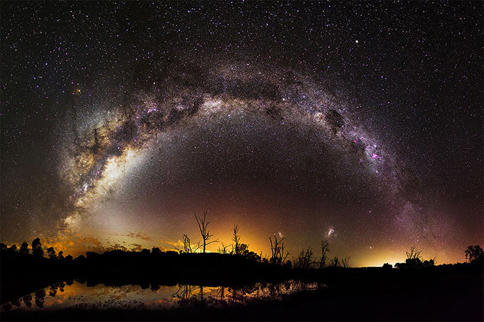 Milky Way over Harvey Dam, Western Australia by Inefekt69