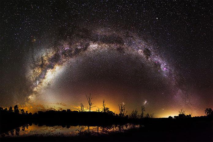 Milky Way over Harvey Dam, Western Australia by Inefekt69
