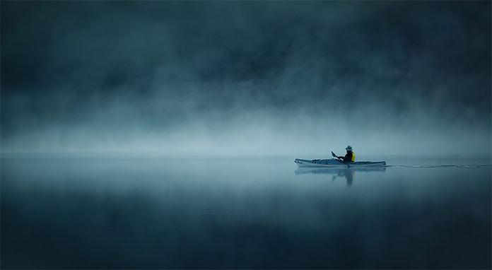 Solitude by Ania Tuzel Photography. Лодка в тумане. Одиночество