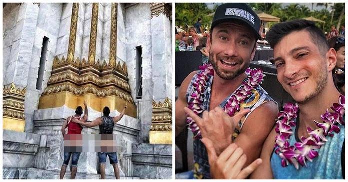 Два американца сфотографировались с голыми ягодицами в храме Бангкока