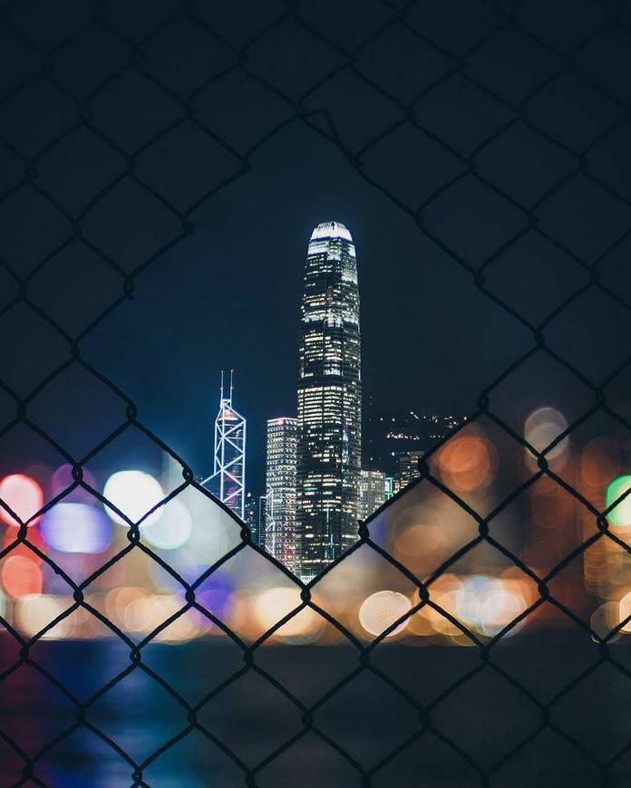 Гонконг, Китай, городской пейзаж, небоскреб