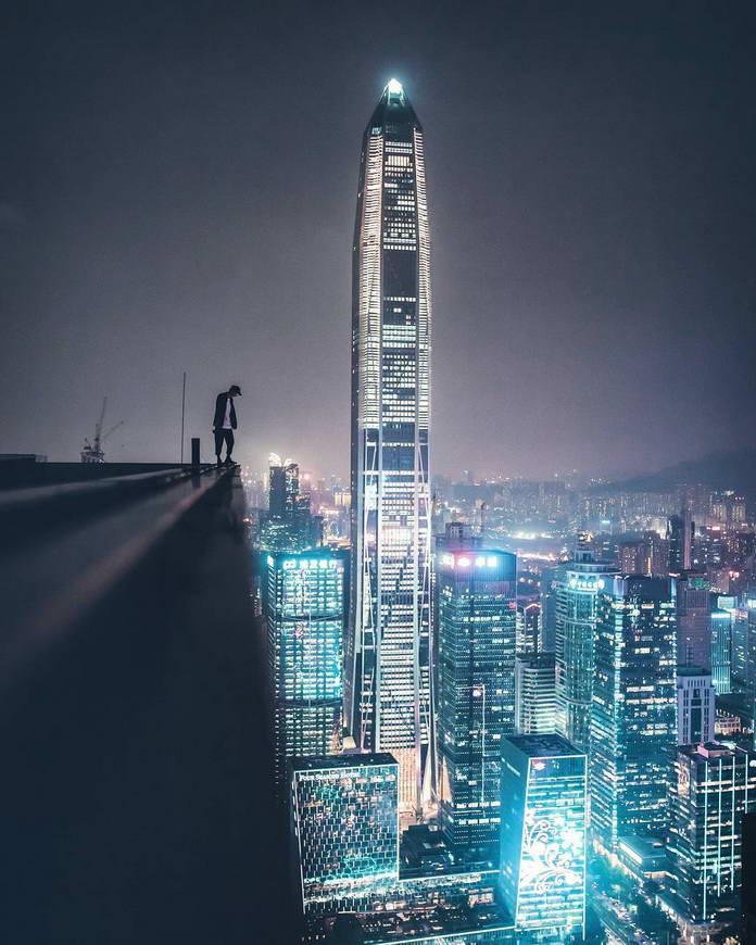 Шэнчьжэнь, Китай, провинция Гуандун, городской пейзаж, небоскреб