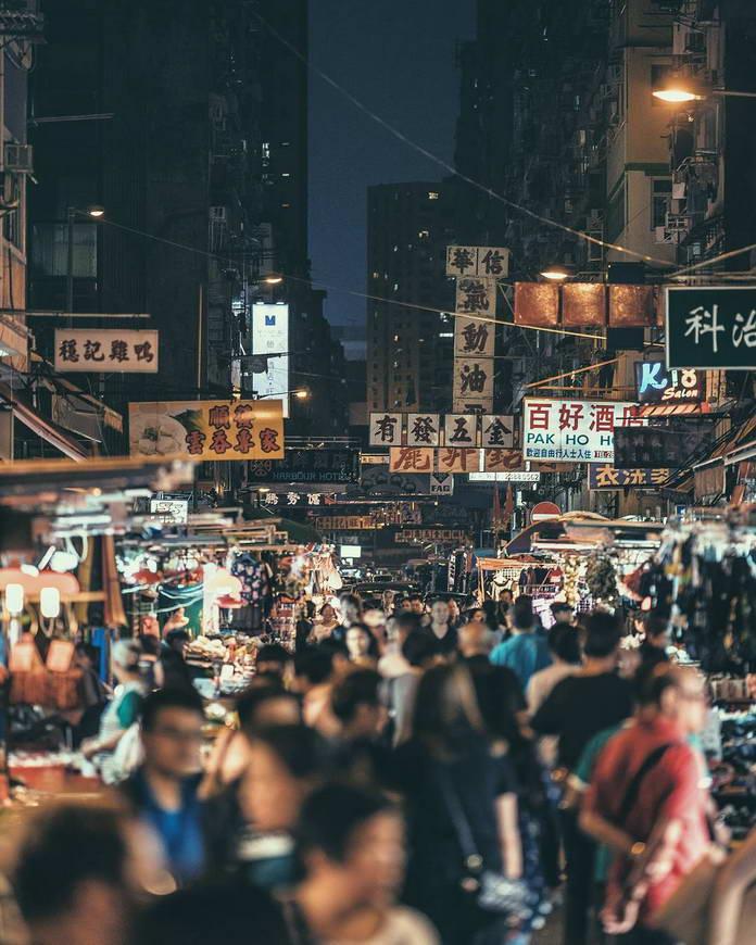 Гонконг, Китай, улица, урбанизация, люди на улице Гонконга, городской пейзаж