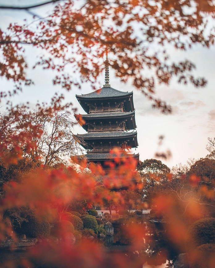 Киото, Япония, пагода, японская архитектура