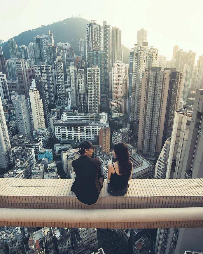 Люди над городом. Гонконг, Китай