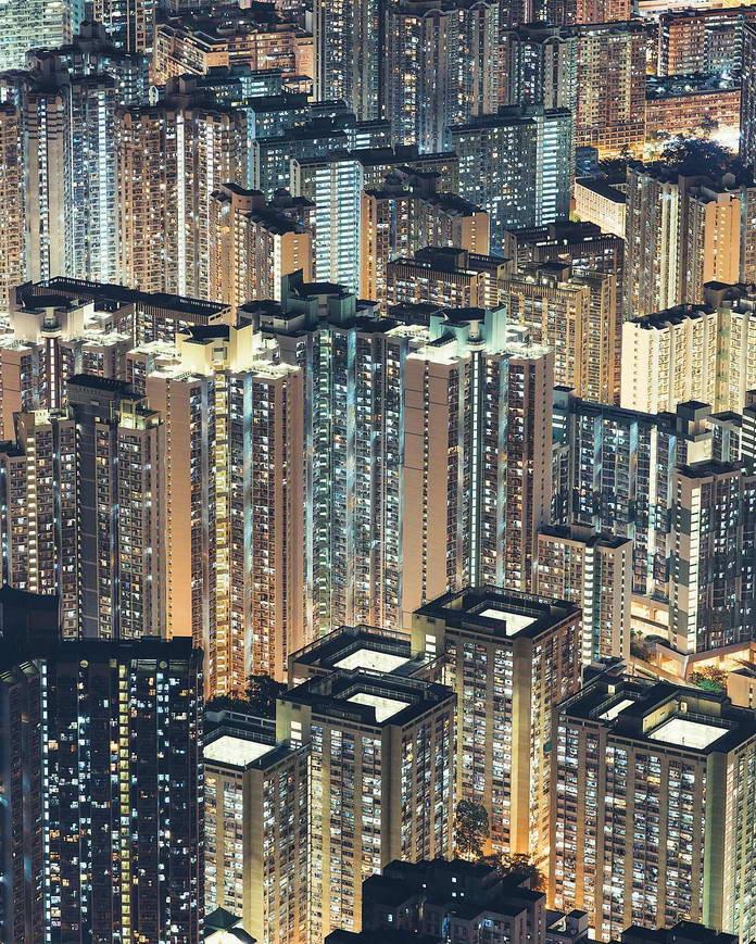 Гонконг, Китай, урбанизация, мегаполис, городской пейзаж, архитектура