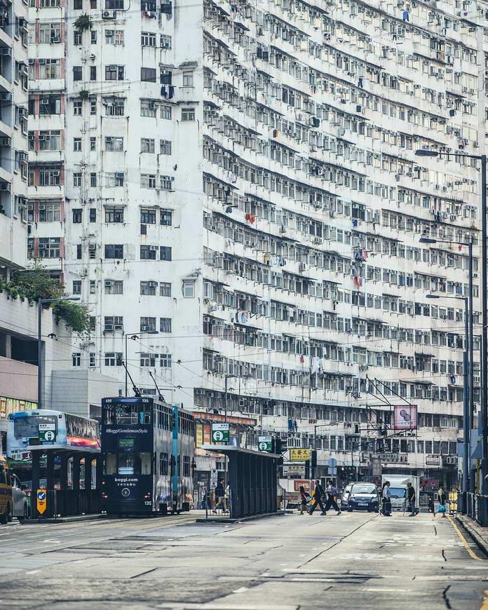 Гонконг, Китай, городской пейзаж, урбанизация