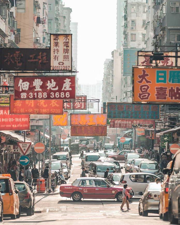 Гонконг, Китай, улица, городской пейзаж