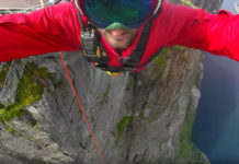 Carlos Munoz jumps off 425 meters cliff