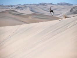 Candide Thovex skiing desert in Quattro 2 project