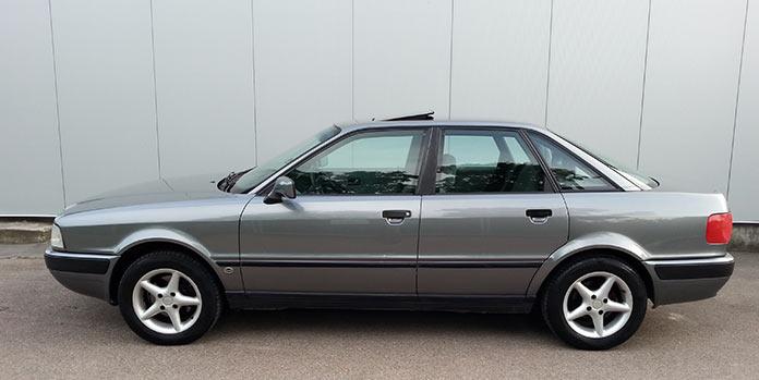 Самые популярные авто в России 1990-х. Audi 80 1993 года