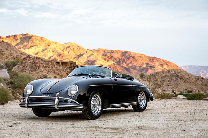 Черный Porsche 356 Speedster 1956 года