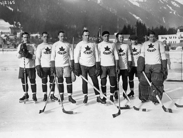 Канадская сборная по хоккею на зимних Олимпийских играх 1924 года в Шамони, Франция