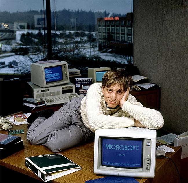 Билл Гейтс. Старые фото знаменитостей из 1980-х