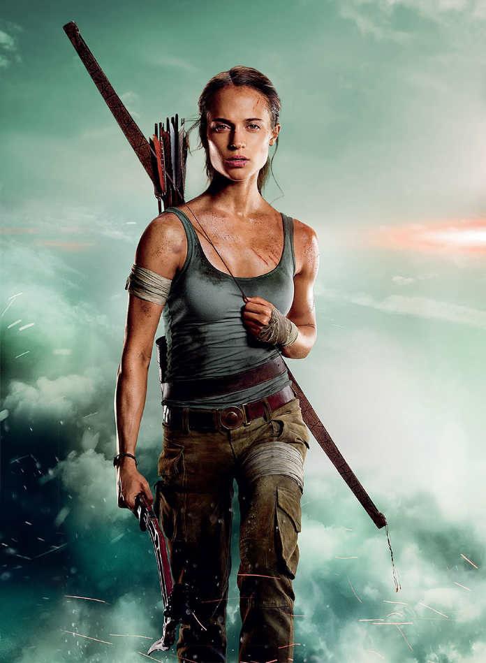 Алисия Викандер в роли Лары Крофт, промо-фото фильма Tomb Raider: Лара Крофт, 2018 г