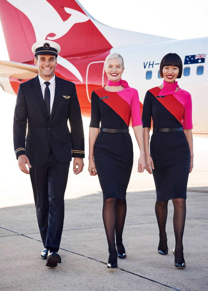 Форма бортпроводников авиакомпании Qantas