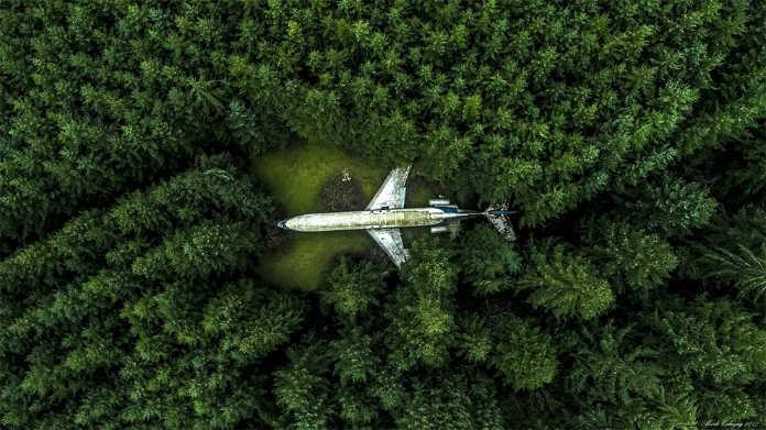 Самолет в лесу. Фотографии-победители конкурса аэро-фото SkyPixel Photo Contest 2017