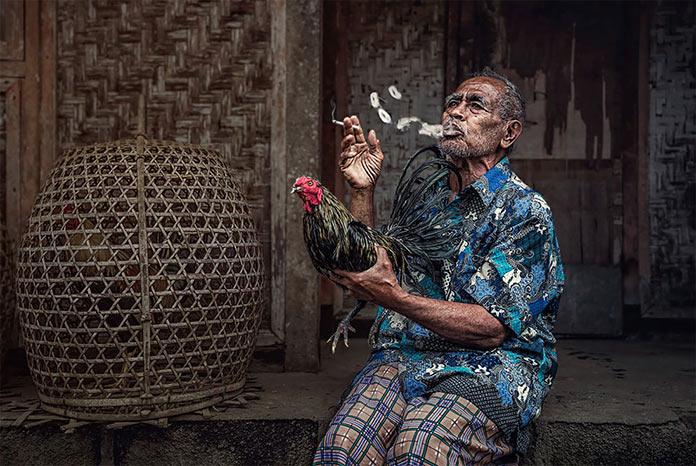 Балиец демонстрирует боевого петуха. Фотографии-победители читательского фотоконкурса The Guardian, январь 2018