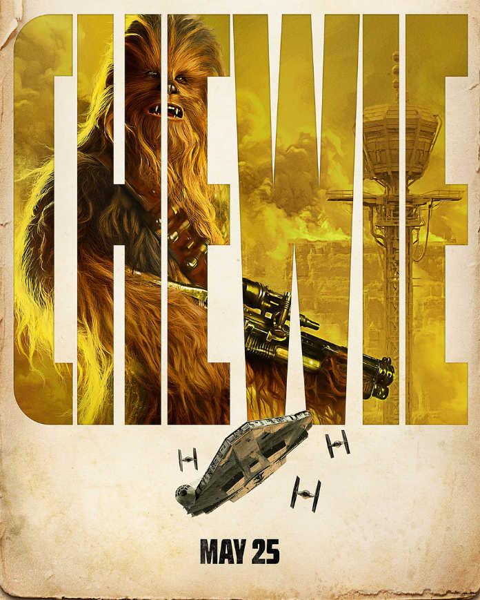 Чубака. Постер к фильму Хан Соло: Звездные войны. Истории