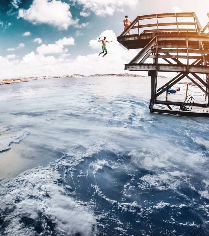 Сюрреалистичные фотоколлажи Сергея Дрюцкого