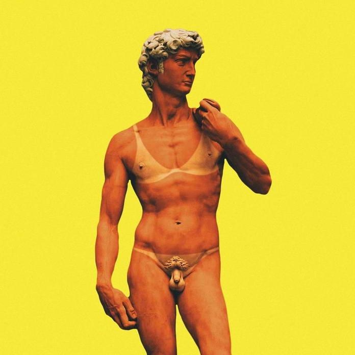 Современный Давид от Микеланджело. Иллюстрации Sucker Tom