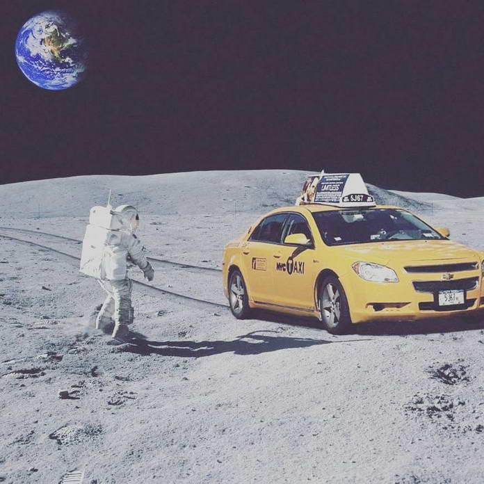 Такси на Луне. Иллюстрации Sucker Tom