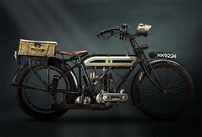 Ретро мотоцикл Truimph model 1 ww1 Despatch 1916 года