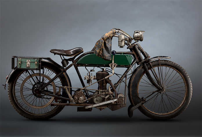 Ретро мотоцикл BSA 1914 года