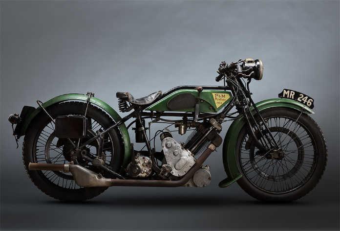 Ретро мотоцикл PM Panther 1924 года