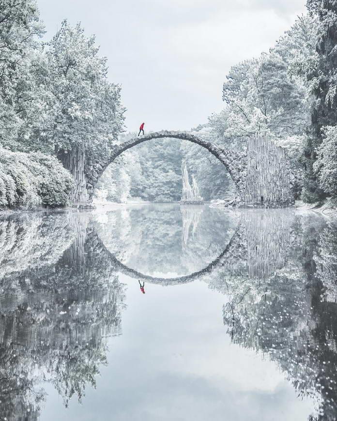 Заснеженный дендрарий, Германия, путешествия фото