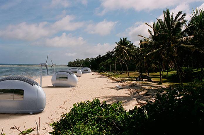 Мини-дом Экокапсула на пляже
