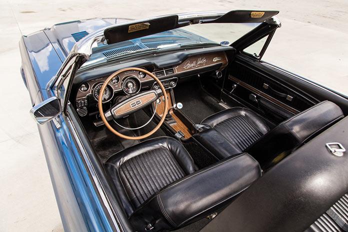 Салон Shelby GT350 Convertible кабриолет 1968 года