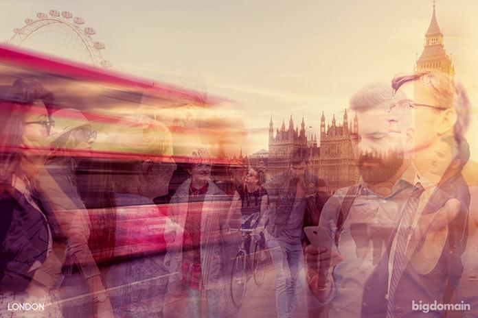 Динамика жизни Лондона, многослойное динамичное фото