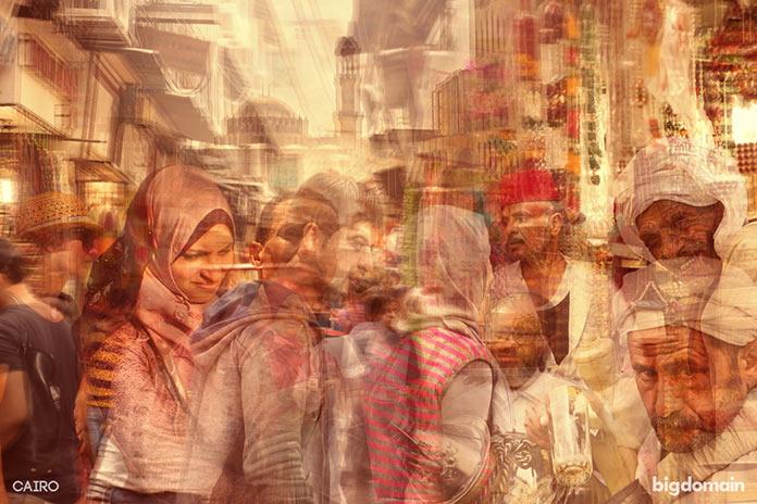 Палитра Каира, многослойное динамичное фото
