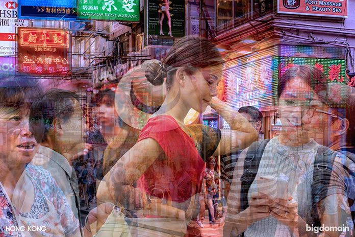 Палитра Гонконга, многослойное динамичное фото