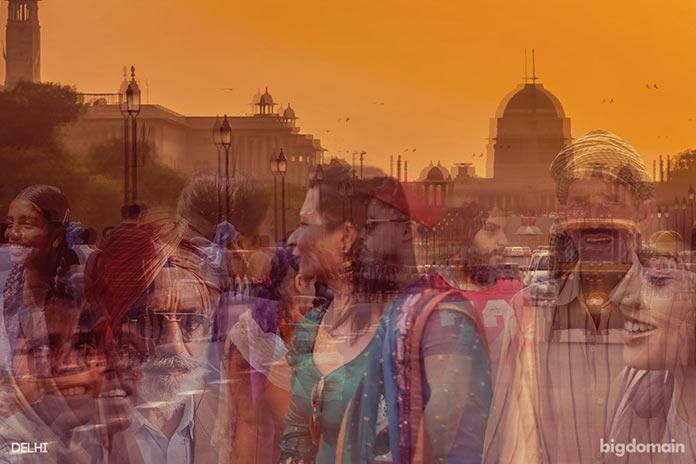Ритм жизни Дели, многослойное динамичное фото