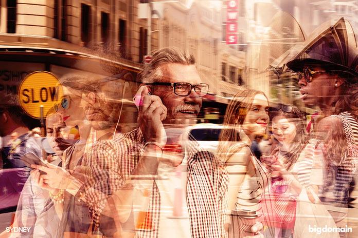 Ритм жизни Сиднея, многослойное динамичное фото