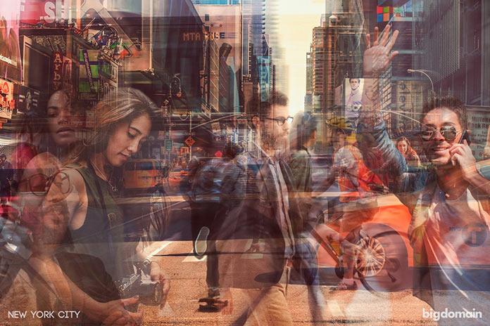 Ритм Нью-Йорка, многослойное динамичное фото