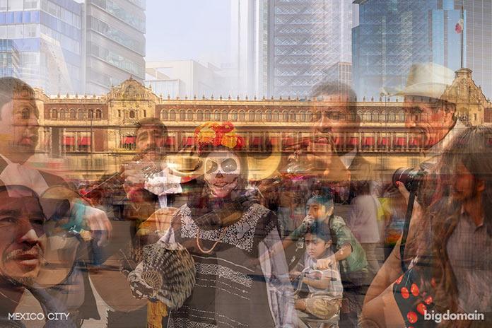 Ритм Мехико, многослойное динамичное фото