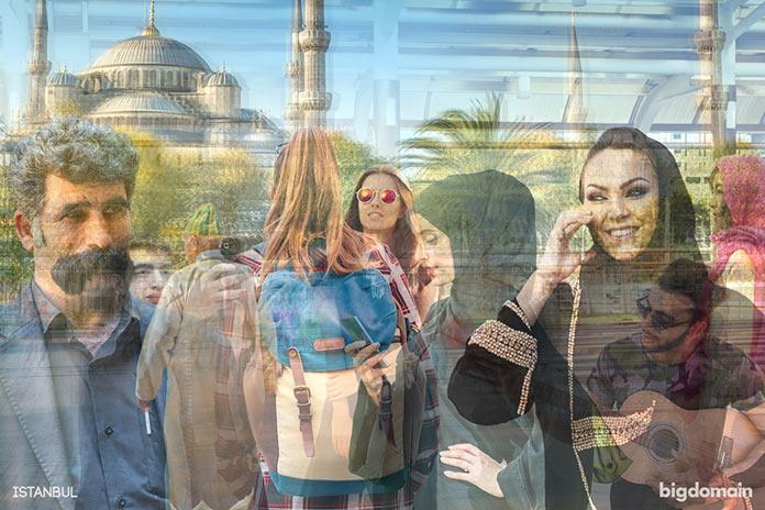 Стамбул, многослойное динамичное фото