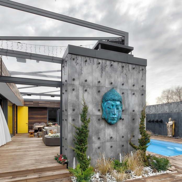 Патио и бассейн, дом Будды в Киеве