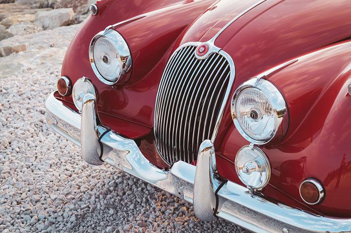Радиаторная решетка и бампер Jaguar XK 150 3.8 Roadster 1960 года