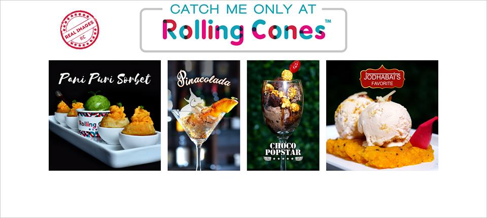 Кафе Rolling Cones, которое предлагает мороженое и кофе со съедобным золотом