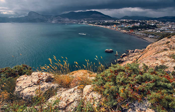 Крым, бухта, Черное море