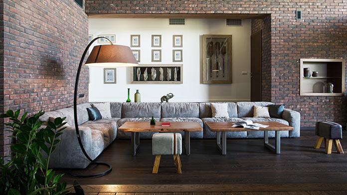 Гостиная. Дом в стиле лофт в Ростовской области от архитектурной студии Чадо
